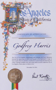 Collectors Conclave LA City Certificate